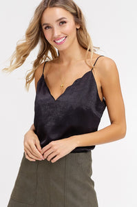 Silky Smooth Cami - Black - KORE CLOSET