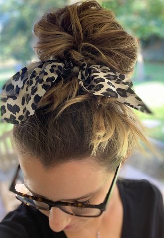 Safari Scrunchie Pack - Black/White - KORE CLOSET