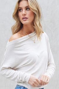 Coconut Macaroon Off Shoulder Top - Ivory