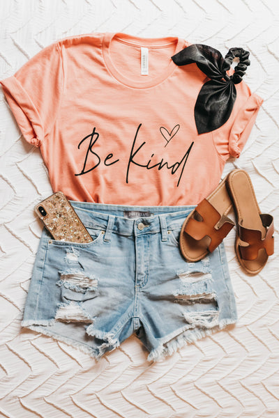 Be Kind Tee - Peach