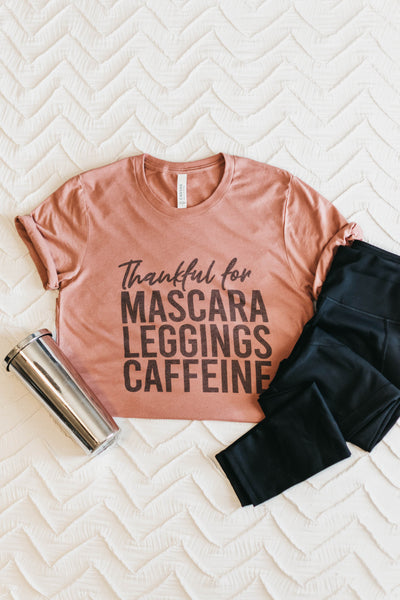 ~Mascara Tee - Dusty Rose