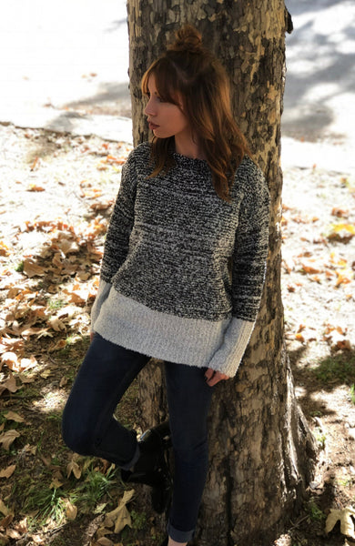 ~Fireside Sweater - Grey/Black - KORE CLOSET
