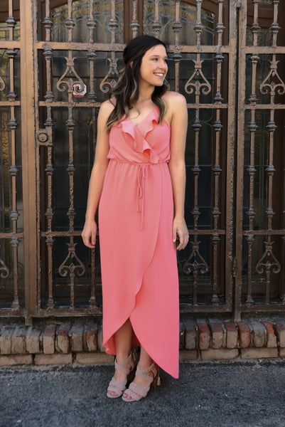 Resort Fling Maxi Dress- Coral - KORE CLOSET