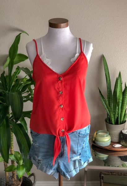 Wild & Free Tank - Orange - KORE CLOSET