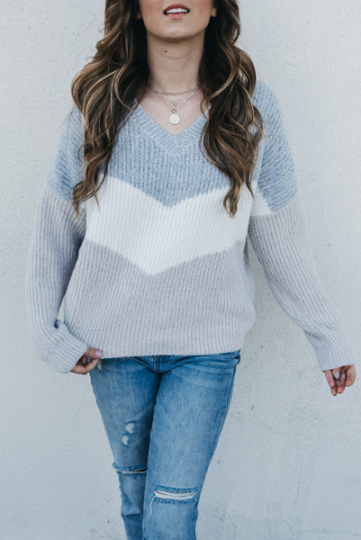 Winter Wishes Sweater - Cloud