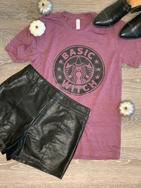 ~ Basic Witch Tee - Purple - KORE CLOSET