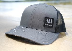 Waxed Yupoong Grey Retro Trucker Snapback
