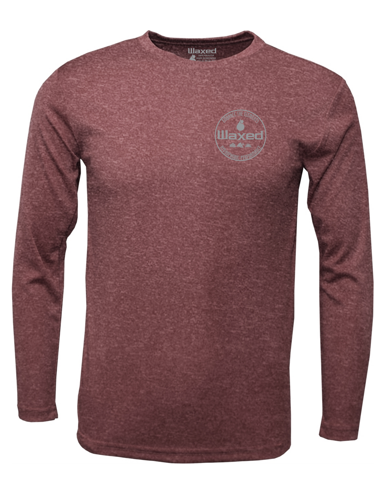 Mens Pioneer L/S Heather Maroon