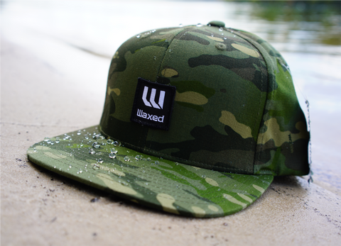 Waxed Yupoong Multicam Tropic Flat Bill Snapback