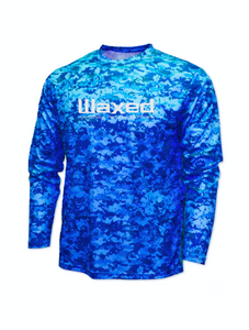 Waxed Performance L/S Blue