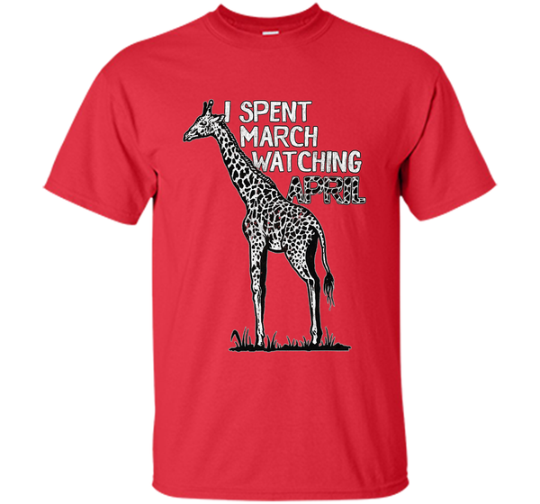 daf1b491c6 Funny and Witty April the Giraffe Pun Distressed T-Shirt Custom Ultra  Cotton – Pin My Tees