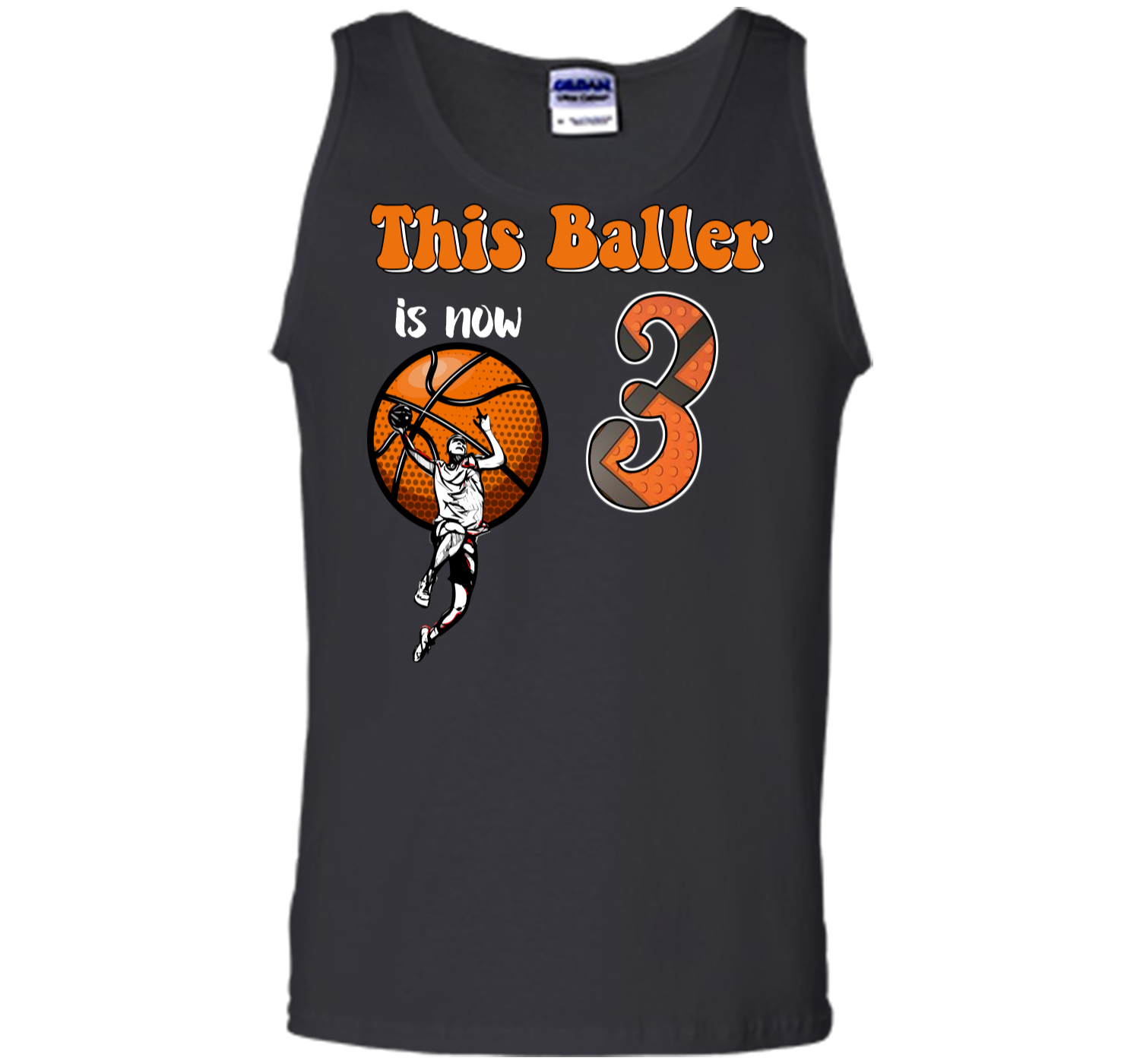 3rd Birthday Basketball T Shirt Funny 3 Years Old Gift Tank Top