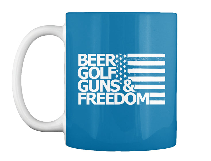 Beer Golf Guns Freedom