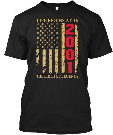 Life Begins At 16 2001 The Birth Of Legends Birthday Gift