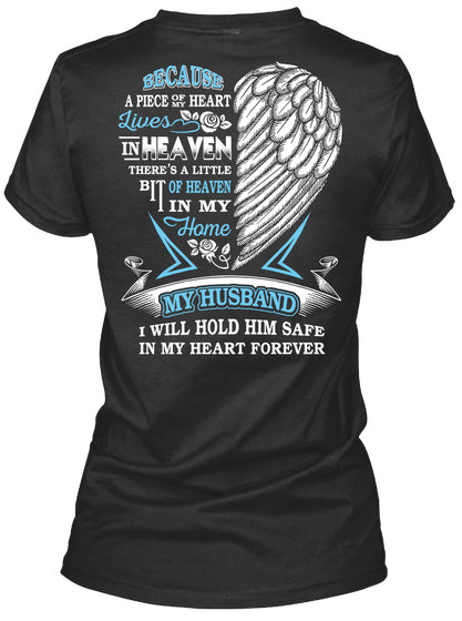 MY HUSBAND'S WINGS COVER MY HEART