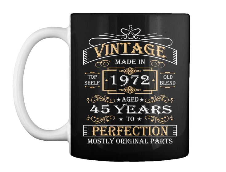 Vintage Age 45 Years 1972 Perfect 45th Birthday Gift