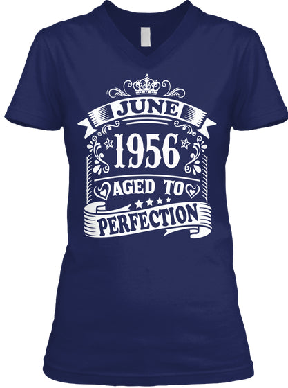 June 1956 - Aged To Perfection Birthday Gift T-Shirts