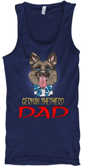 Funny Hipster Dog German Shepherd Dad