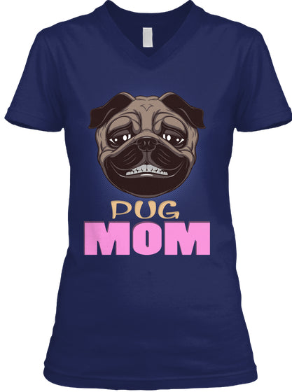 Funny Pug Smiling Mom Dog