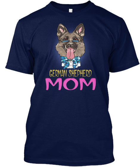 Funny Hipster Dog German Shepherd Mom