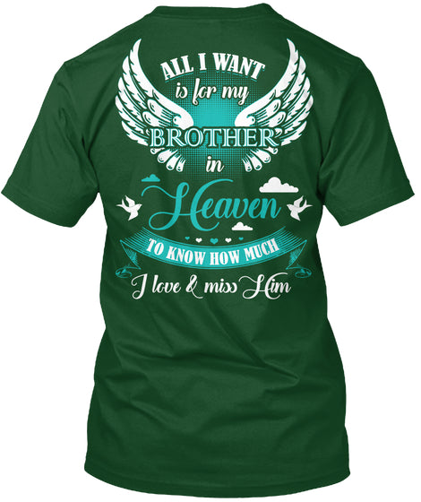 Miss you Brother t shirt design