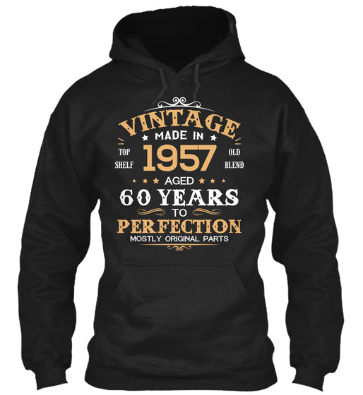 Vintage Made In 1957 Aged 60 Years Tee