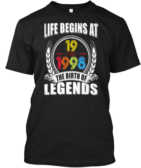 1998 My 19th Birthday Gift Ideas T Shirt For L