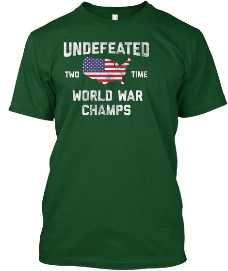 3877cc14 Ww1 Amp Ww2 World War Champions 4th Of July Novelty Gift Shirt For Men Women  And Kids Custom Ultra Cotton – Pin My Tees