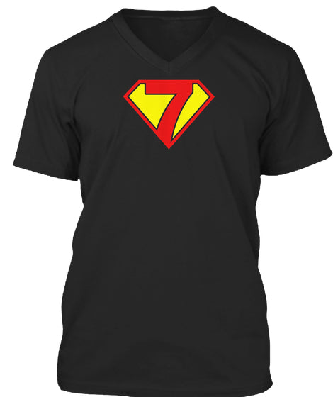 Super Hero 7th Birthday Tshirt Gift