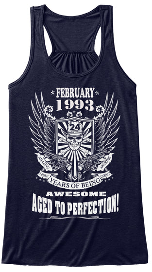February 1993 - 24 Years Of Being Awesome Aged To Perfection 24th Birthday Gift T-Shirts