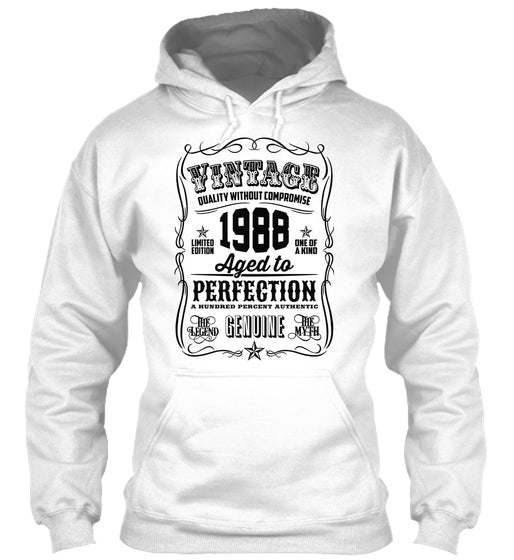 Vintage 1988 Aged To Perfection Black Printed