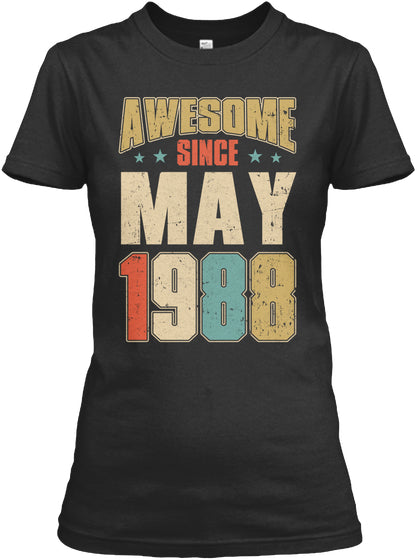 Vintage Retro Since May 1988 Shirt