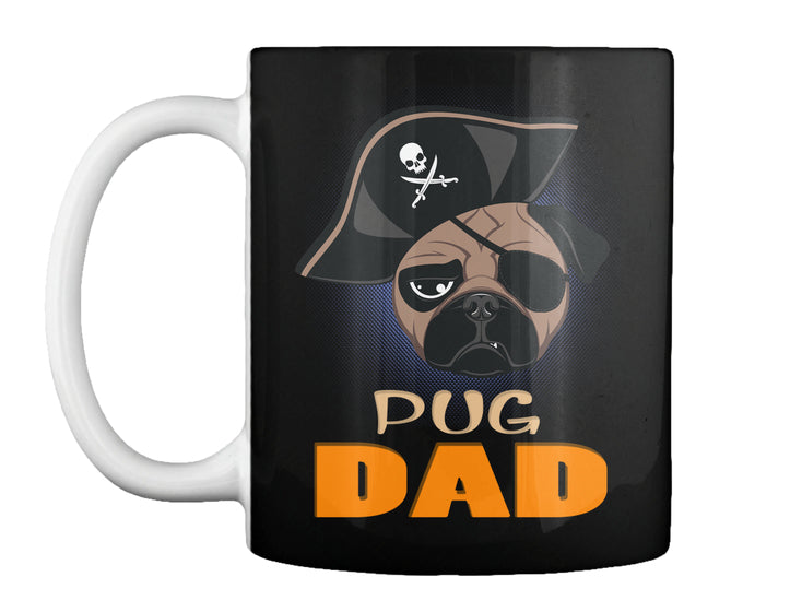 Funny Pug Dad Pirate Hat