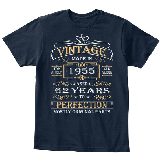 Vintage Age 62 Years 1955 Perfect 62nd Birthday Gift