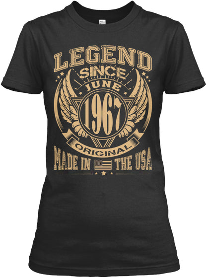 1967 Years Old Legend Since June 1967 Birthday Gift T-shirt