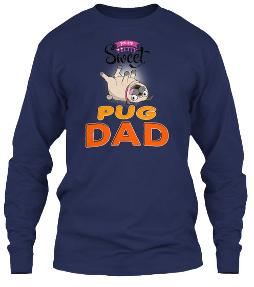 Card With Funny Pug Dad