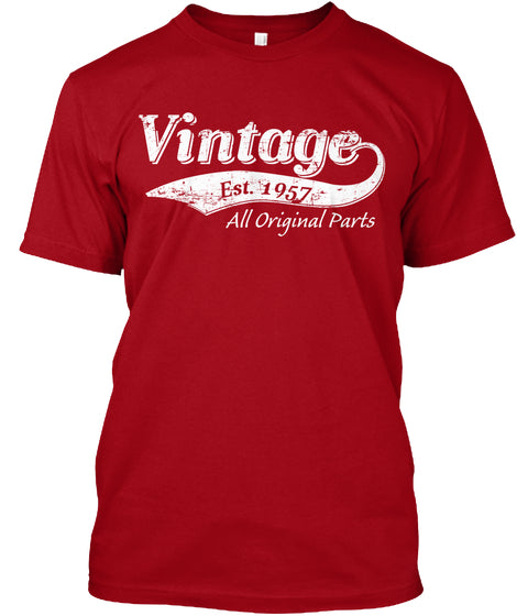 Born In 1957 - Limited-Edition Vintage 1957 t-shirt