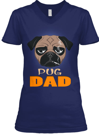 Funny Pug Dad Dog Smoking A Cigarette