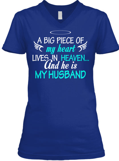 Piece heart live in heaven He is husband