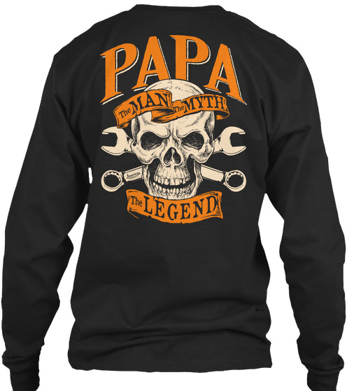 Papa the legend skull and wrenches