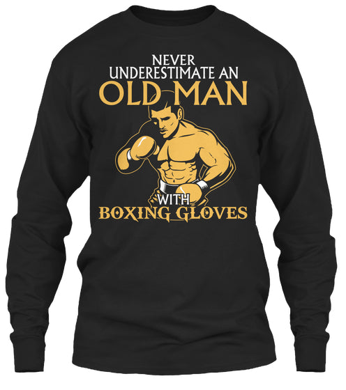 OLD MAN WITH BOXING GLOVES