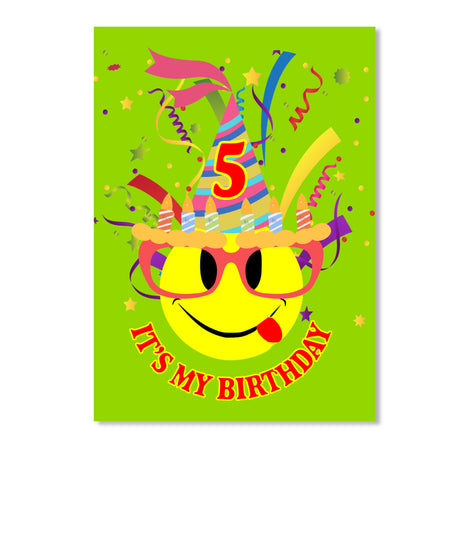 It's My 5th Birthday Kids Emoji T-Shirt