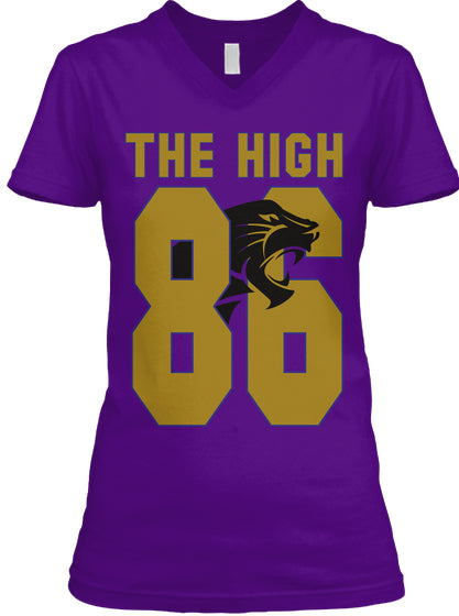 The High 86 Ladies V-Neck - 30th