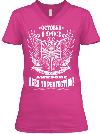 October 1993 - 24 Years Of Being Awesome Aged To Perfection 24th Birthday Gift T-Shirts