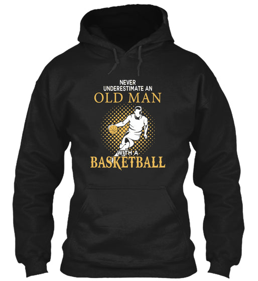 OLD MAN WITH A BASKETBALL