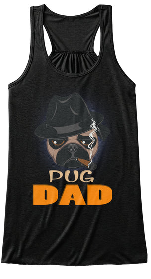 Funny Pug Dad With Cigar