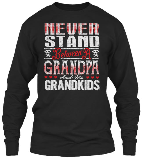 GRANDPA AND HIS GRANDKIDS ~ Front Print