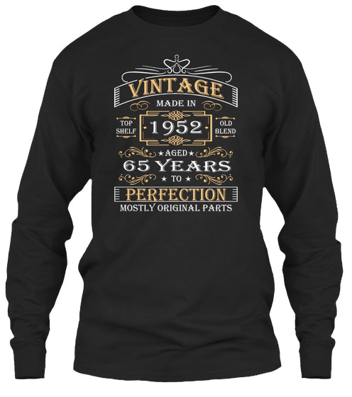 Vintage Age 65 Years 1952 Perfect 65th Birthday Gift