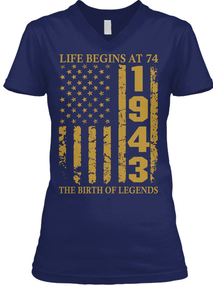 Life Begins At 74 1943 The Birth Of Legends Birthday Gift