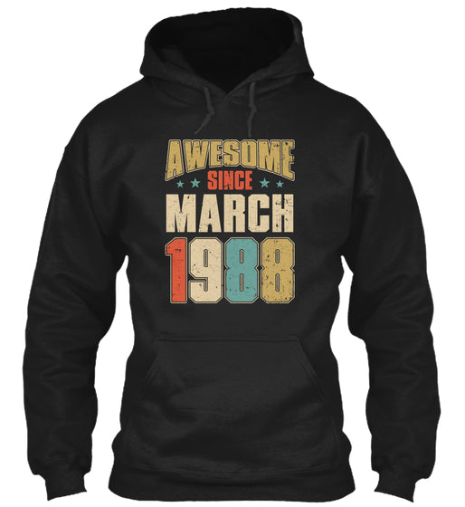Vintage Retro Since March 1988 Shirt